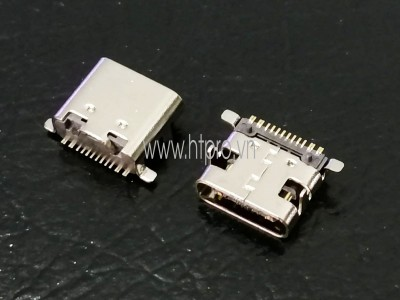 Cổng USB3.1 TypeC 16Pin DIP Đầu Cái 1.6MM