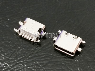 Cổng USB3.1 TypeC 6Pin Đầu Cái 0.8MM