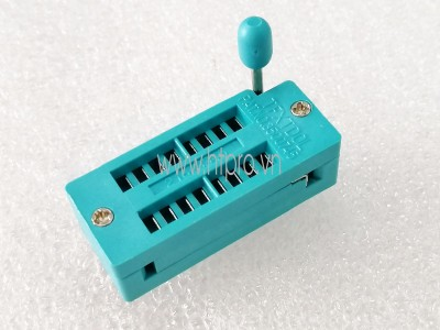 Socket 14Pin Đế IC Gài ZIF Xuyên Lỗ