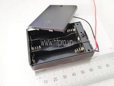Hộp Pin 3xAA Nắp Đậy Công Tắc ON-OFF