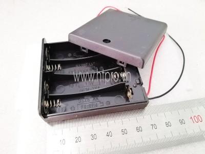 Hộp Pin 4xAA Nắp Đậy Công Tắc ON-OFF