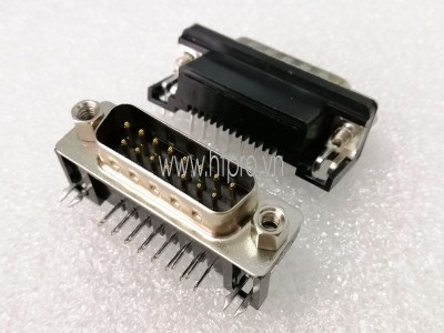 Connector DB15 Male Nằm Ngang Hàn PCB