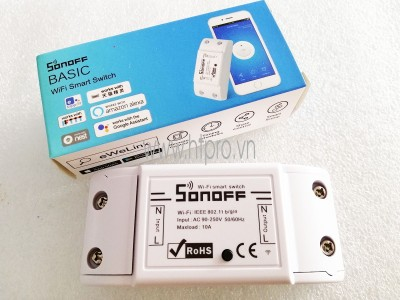 Công Tắc Thông Minh Sonoff Basic Wifi