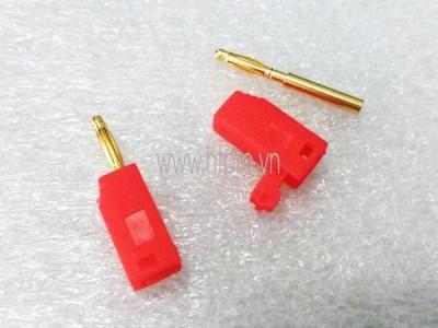 Giắc Cắm Đực Màu Đỏ -Banana Plug 2mm