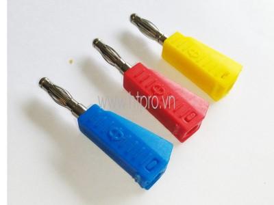 Giắc Cắm Đực - Banana Plug 4mm-Màu Đen